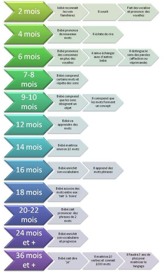 Evolution du langage chez le bébé et le jeune enfant: