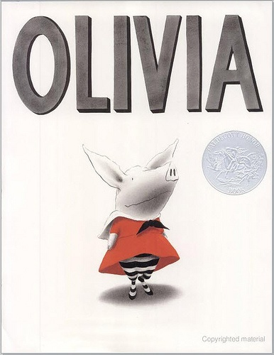the Olivia books by Ian Falconer: feisty, free-spirited Olivia is a pig with a big imagination. I like the broad cultural influences that show up in these books