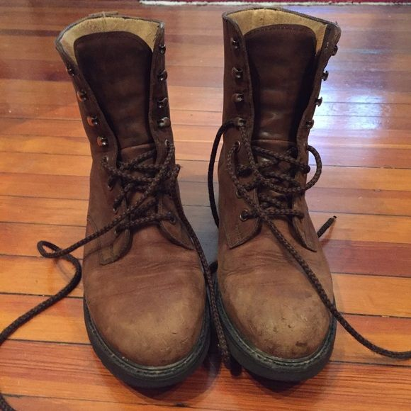 VINTAGE brown combat boots | Brown Combat Boots, Combat Boots and ...