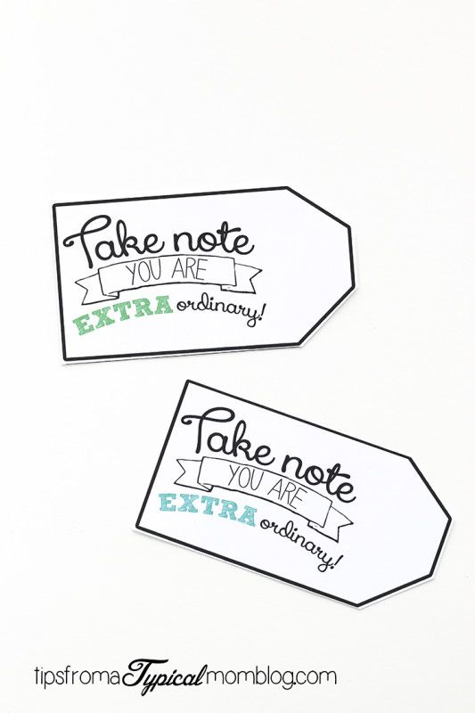"""Say """"Thank You"""" with Extra Gum- Free Printable Gift Tag - Tips from a Typical Mom"""