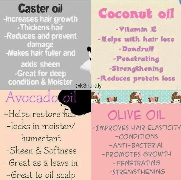 OILS FOR YOUR HAIR <3
