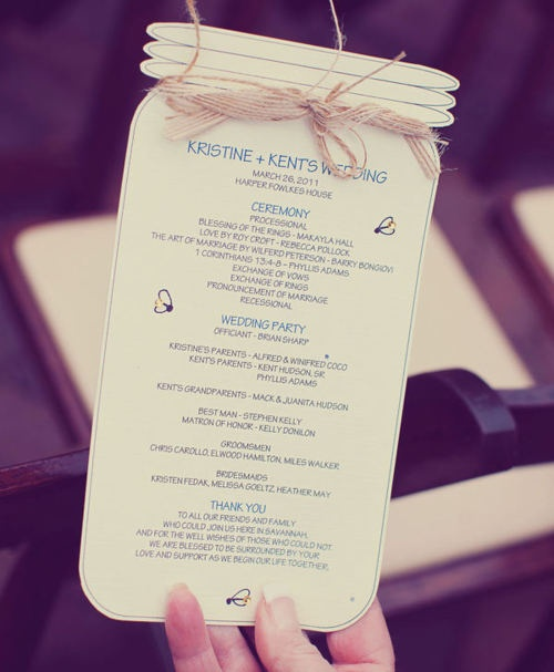 Unique Wedding Program #cutest