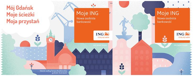 Mój Gdańsk / Moje ING / illustration on Behance