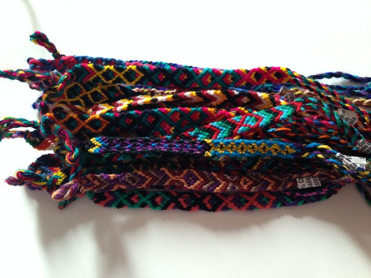 Hand woven friendship bracelets, made in Guatemala $2 http://www.storenvy.com/products/8016303-guatemalan-friendship-bracelets #friendshipbracelet #FairTrade #Guatemala