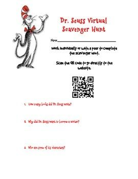read across america day author studies and qr codes on