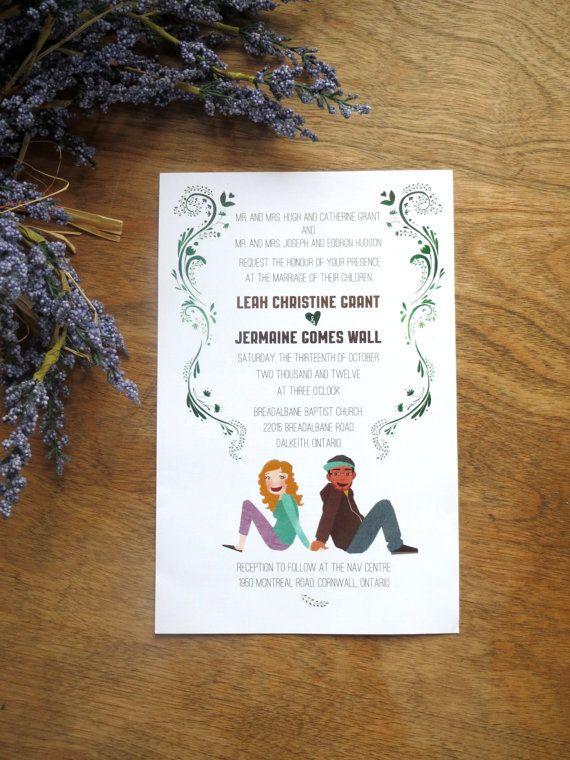 Custom Wedding Portrait Invitations: Printable
