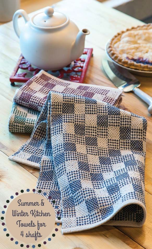 Warp once and weave these cute summer and winter towels in a variety of colors. Instructions in 2016's May/June issue of Handwoven. Click here to download!