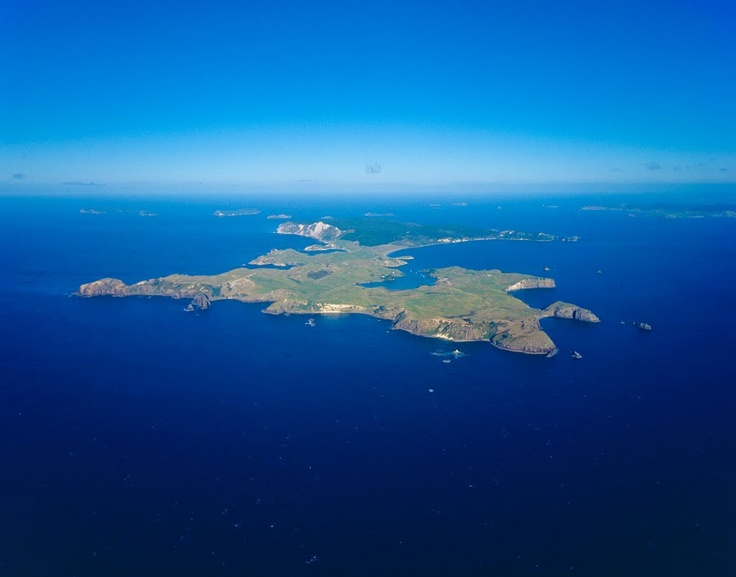 Mercury Island - Photo from helicopter