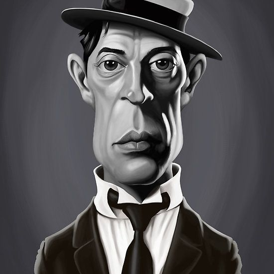 Buster Keaton art | decor | wall art | inspiration | caricatures | home decor | idea | humor | gifts