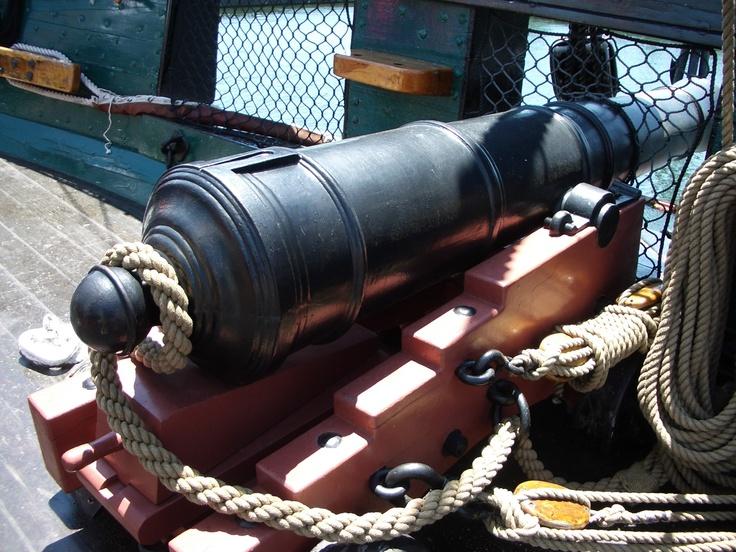 deck gun...USS Constitution...
