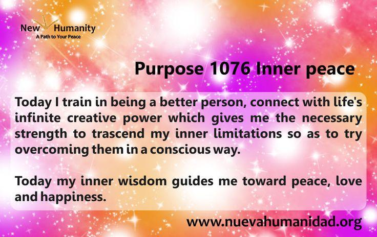 Purpose 1076 Inner peace