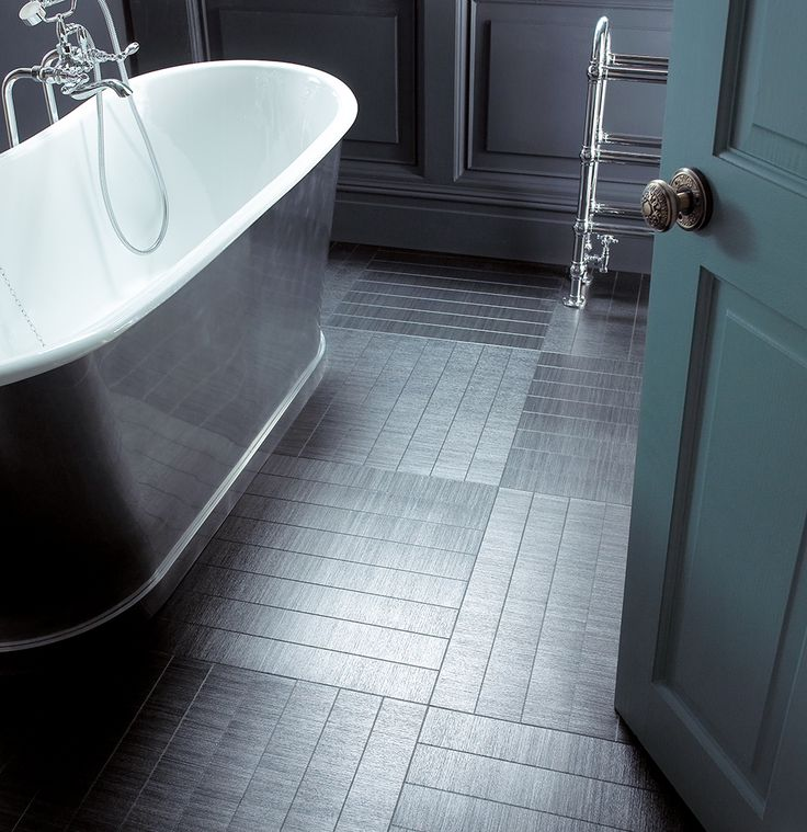 Amtico Flooring With Underfloor Heating In A Grey Bathroom