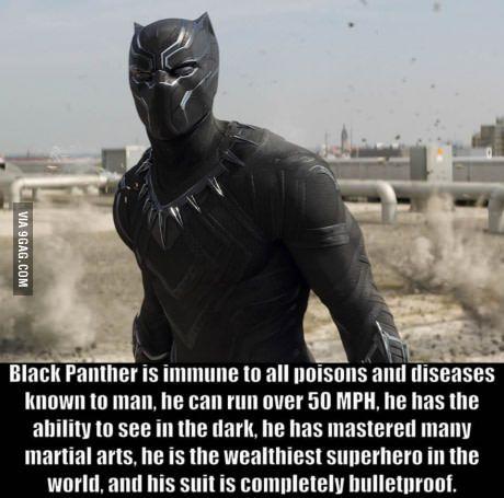 Being black and bulletproof is handy.