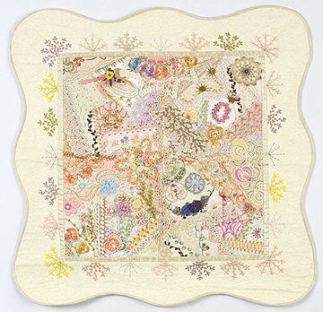 Beautiful crazy quilt!