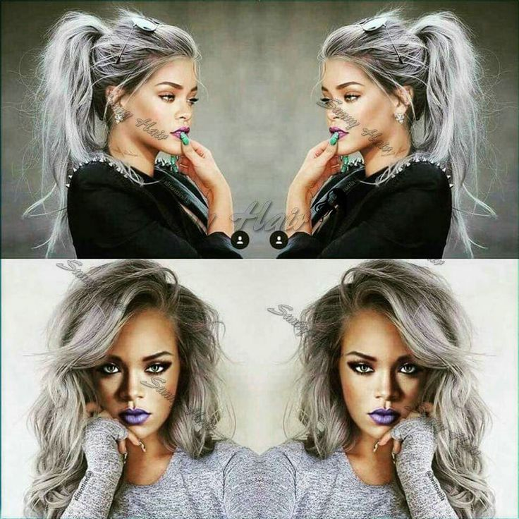 Cheap hair wig beauty, Buy Quality wigs european directly from China hair block Suppliers: Long Hot Wavy Ombre Gray Rihanna Style Synthetic Lace Front Wig Glueless Ombre Tone Color Black And Grey Heat Resistant