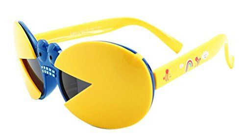 Stand out in these Interesting Crab Series Folding Ultraviolet-Proof Baby Sunglasses-Yellow Frame