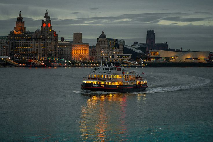 Morning ferry from Liverpool to Seacombe   by Dave Wood Liverpool Images
