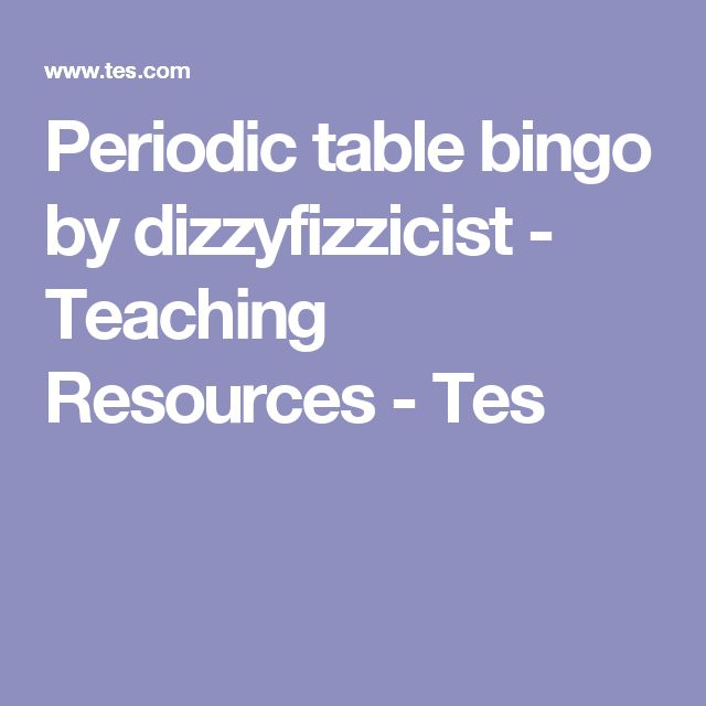 217 best chemistry periodic table images on pinterest high periodic table bingo by dizzyfizzicist teaching resources tes urtaz Choice Image