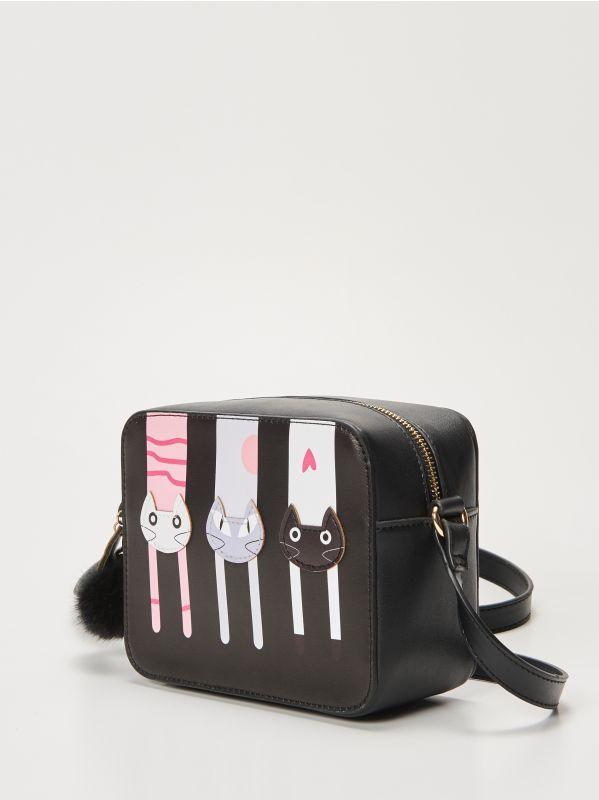 HOUSE / Pudełkowa torebka z kotami  QP998-99X