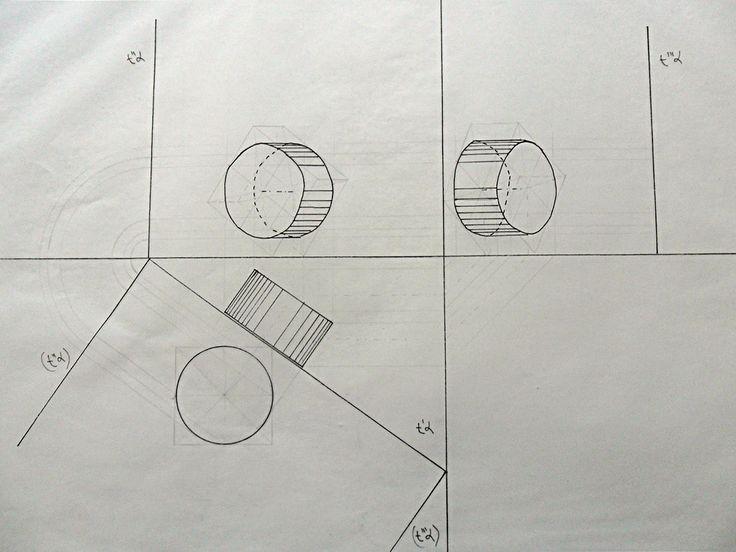 cilindro inclinato metodo piano ausiliario