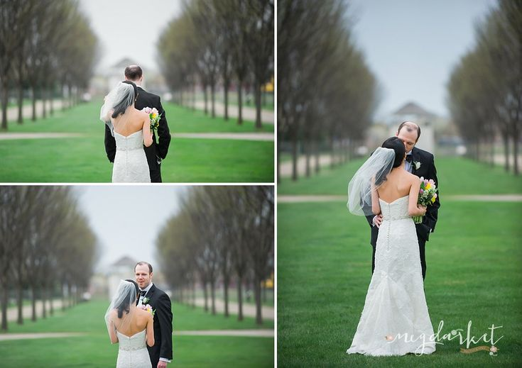First Look, Bride and Groom, Spring Wedding, Detroit Wedding Photographers, Detroit Wedding, Packard Proving Grounds Wedding, Packard Proving Grounds, Packard Proving Grounds Wedding Photographer, Detroit, Image by: Meg Darket Photography