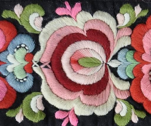 Bunad embroidery from Hallingdal, Norway