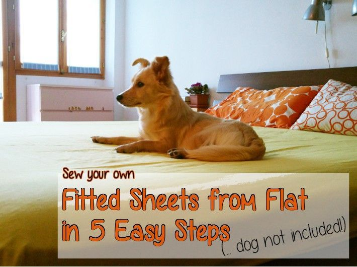Do you think your bed deserves great fitted sheets, without spending a lot of money? Learn how to sew your own fitted sheets from flat sheets at home