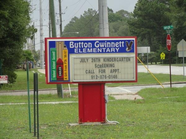 Button Gwinnett Elementary Hinesville Georgia 1993 1995