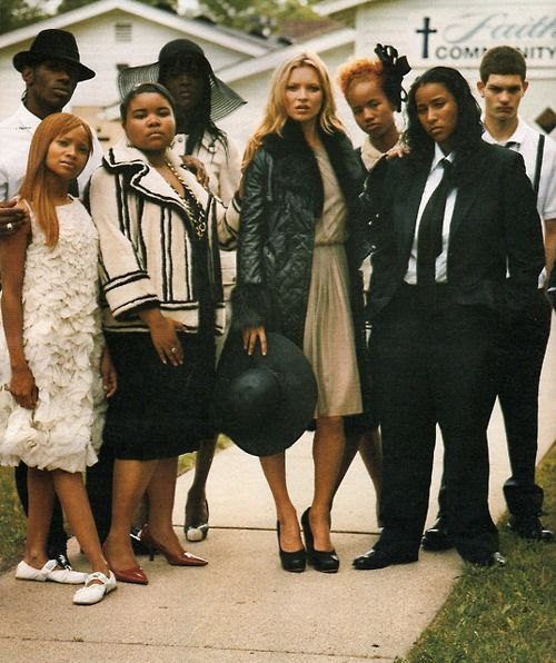 Kate Moss at Tupac's funeral