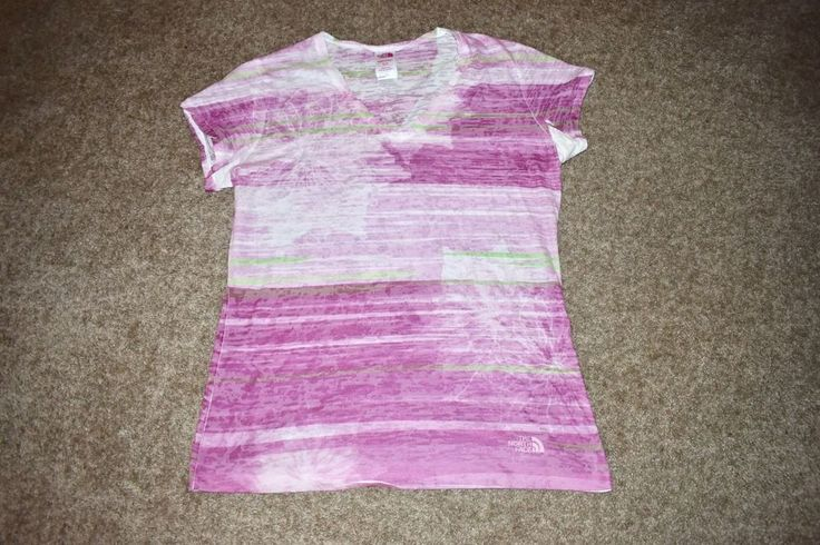 The North Face Womens Pink Purple Burnout S/ S Shirt Hiking Camping Sz X Large #TheNorthFace #KnitTop #Casual