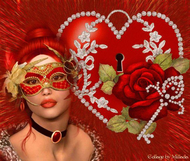 Картинки, открытки девушка и сердце