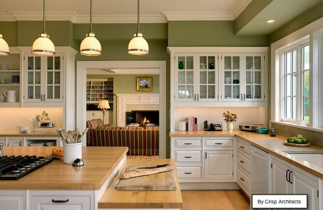sage green kitchen cream cabinets | celery and dark brown for both indoor and outdoor living