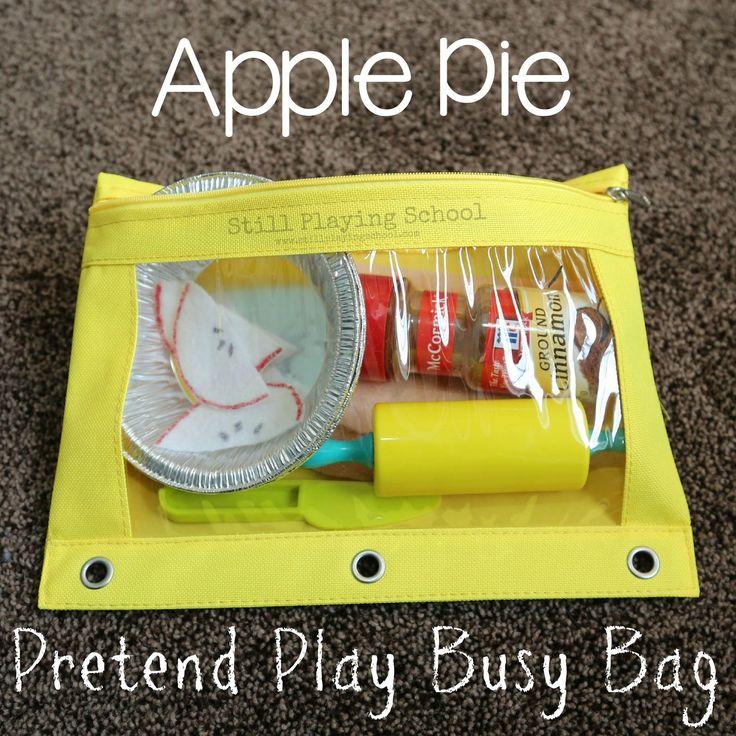 Still Playing School: Felt Apple Pie Making Toy Kit