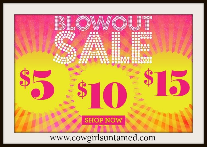 Get fantastic DEALS for only $5 and $10 and $15 by clicking here: http://www.cowgirlsuntamed.com/catalog.php?sale=yes  ALL SALES are FINAL SALE. Limited quantities! SALES will change daily, so if you see something, make your purchase!  SPEND $44.99+ and get FREE USA SHIPPING on your order with code FREESHIP18 at checkout!  COWGIRLS UNTAMED ~ Fashion For Your Cowgirl gypsy Rebel Soul  #sale #discount #save #clearance #deals #dresses #skirts #lace #cowgirl #leopard #fringe #butterflies #summer