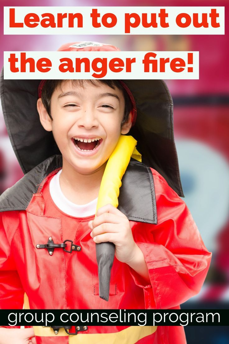 Put out the anger fire with group counseling activities! Students learn to recognize their physiological signs of anger and manage angry emotions in group counseling activities for elementary school counseling. Counselor Keri