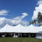 A beautiful outdoor wedding in Bear Lake, Alberta, 40'x100' Pole Tent, Special Event Tent, Wedding Tent, Tent Rental Edmonton