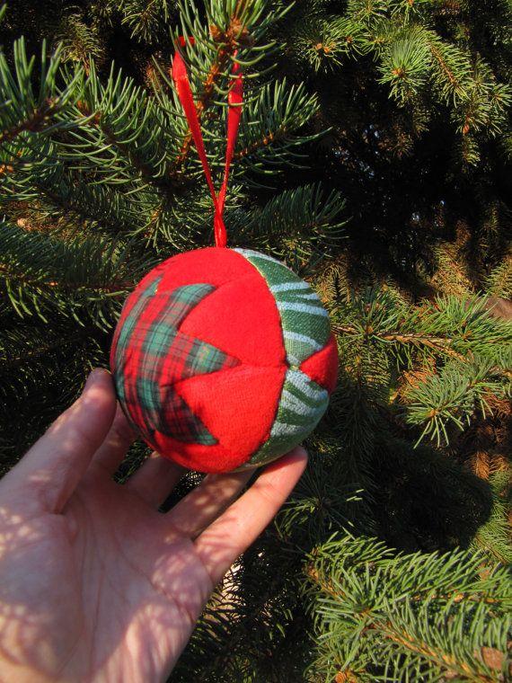 christmas ball kimekomi ornament japanese art by KrugerShop