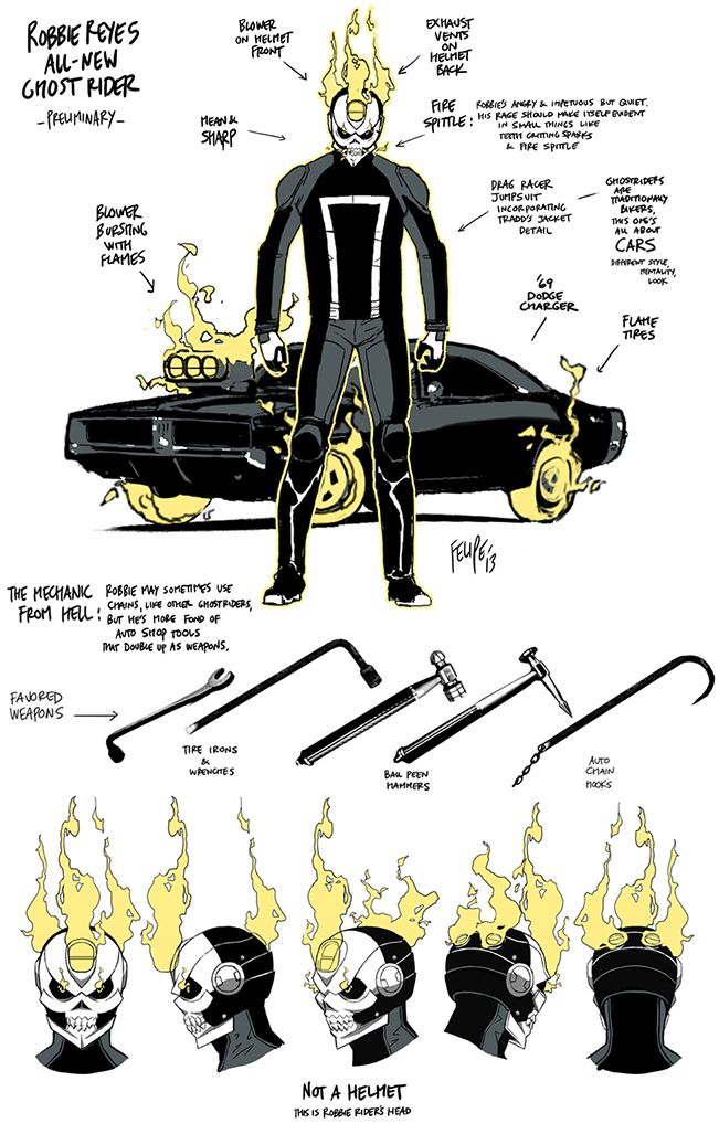 Under The Hood Of The ALL-NEW GHOST RIDER Character Design | Newsarama.com
