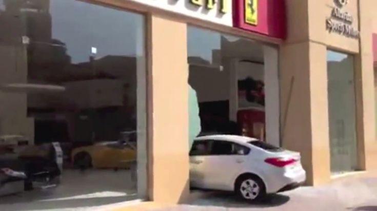 Alleged Drunk Driver Crashes Into Ferrari Dealership, Then Flees: Video