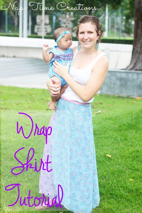 wrap skirt tutorial #sewing #skirttutorial: