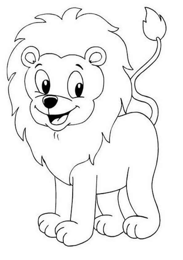 Ausmalbilder Löwe Ausmalbilder Löwe 17 Eine Zeichnung ...
