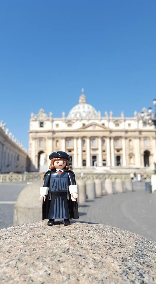 Martin Luther in Rom, piazza San Pietro