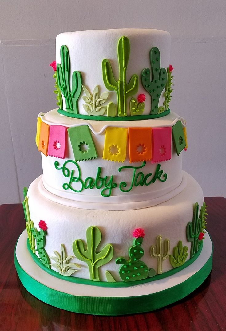 Cactus Baby Shower Cake Adrienne Amp Co Bakery Baby