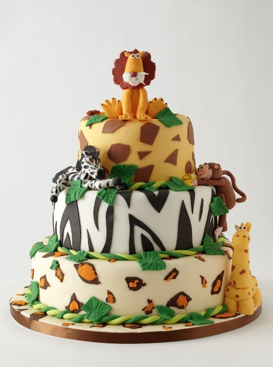 Jungle Animal Cake Party Ideas Pinterest