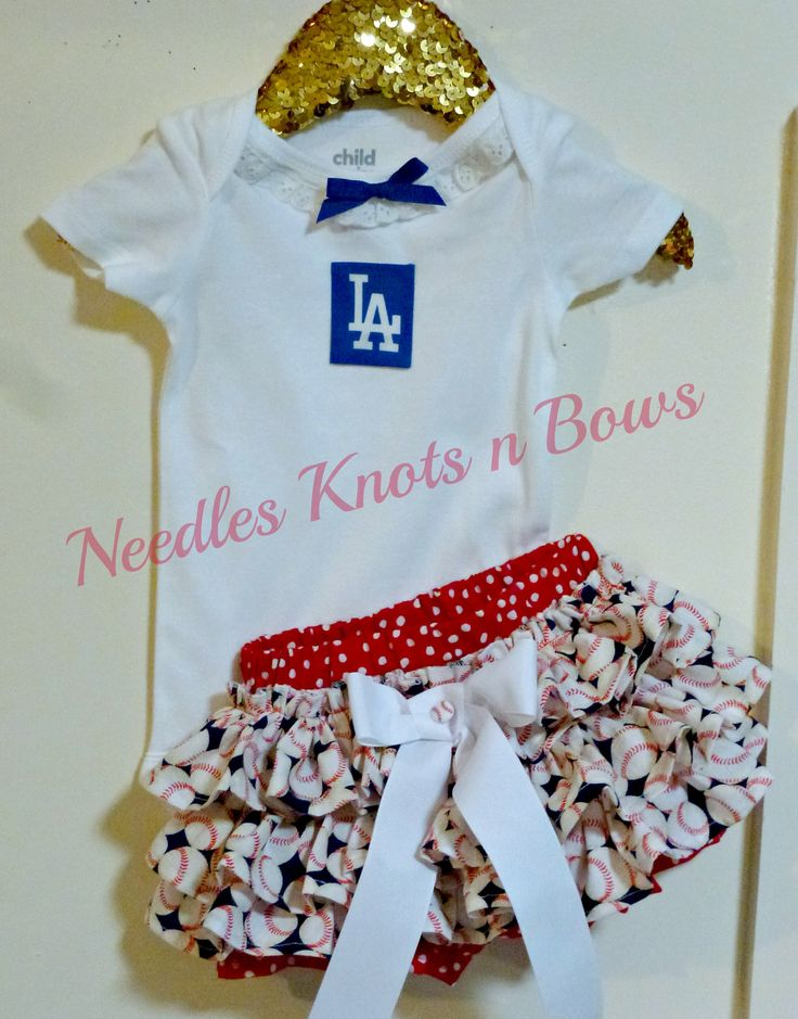 Baby girls Dodgers game day ready outfit