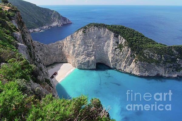 #Navagio #Shipwreak beach, Beautiful #Zakinthos island, #Greece by #AnastasyYarmolovichPhotography #travel