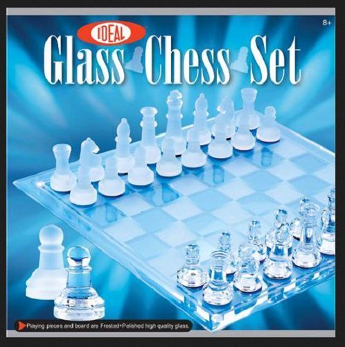 Glass Chess Set  Board  Elegant  Game And Pieces - New #AlexBrands