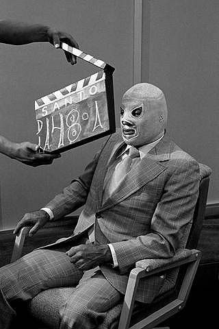 El Santo from the 50's and 60's on Spanish tv, NY Channels 41 or 47