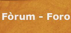 Fòrum - Foro