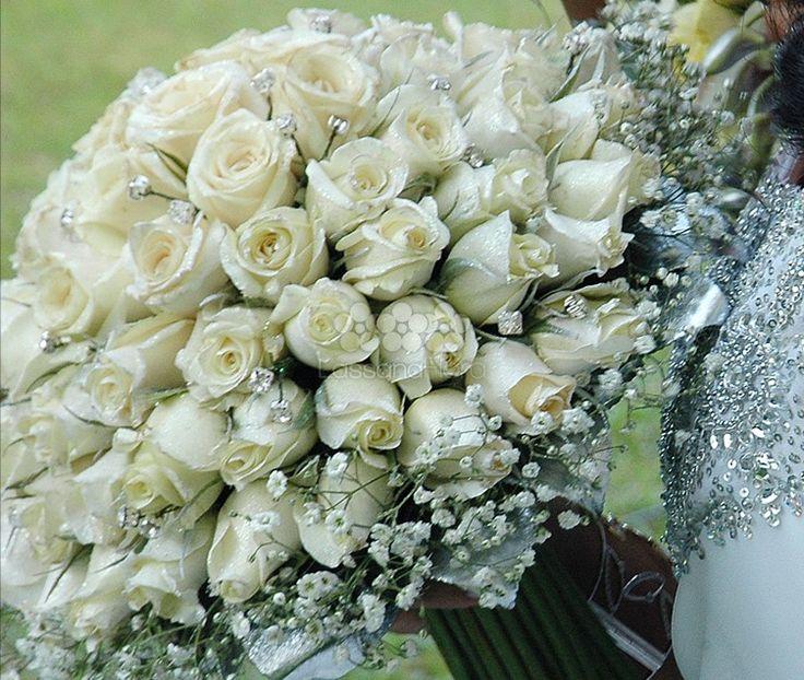 Cream Roses Gyp Flowers Bridal Posy Bouquet